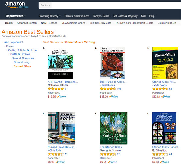 art glass breaking glass to make money volume 1 amazon listing screen shot